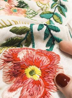 Hand Embroidered Clothing by Tessa Perlow on Etsy