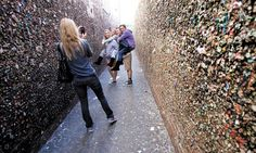 San Luis Obispo's Bubblegum Alley has been nominated by a travel website to be the unofficial Wonder of the World. Central California, California Coast, Alleyway, San Luis Obispo, Bubble Gum, Main Street, Wonders Of The World, Railroad Tracks, Seattle