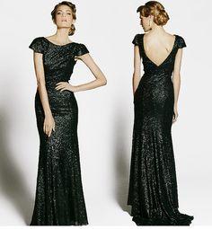 Black sequin dress Black sequin bridesmaid dress by KddStudio
