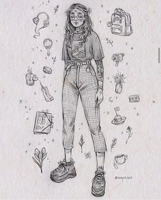 Girl Drawing Sketches, Art Drawings Sketches Simple, Pencil Art Drawings, Cute Drawings, Drawing Faces, Drawing Tips, Arte Sketchbook, Cartoon Art Styles, Cute Art