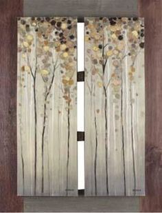 The Twin Trees Mounted 33x43 from Northwoods Collection is a brilliant product engineering and stylized art makes each individual piece stand out as an aesthetically beautiful work of art. Available online at afw.com.