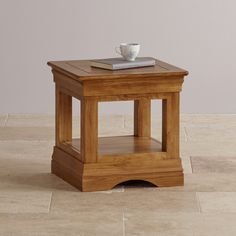 A useful small table, handmade from solid oak in the French rustic style.