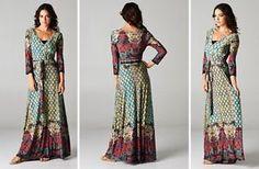 Boho Chic Gypsy Chelsea Wrap Maxi Dress Best Selling Size S 0-4 - PennyLuna | eBay