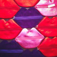 leather lips bag