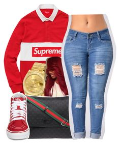 Poppin|Rico nasty by maiyaxbabyyy on Polyvore featuring polyvore fashion style Vans Rolex Gucci clothing