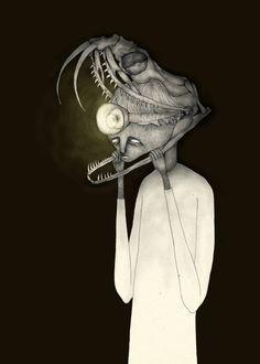 """Like a snake"" Art Print by Auntikatar on Society6."