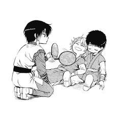 Hak, Han Dae, and Taewoo as children omg soooooo adorable >\\\< PRECIOUS LITTLE BABIES AHHH SO CUTE I CANT - Akatsuki no Yona / Yona of the dawn anime and manga