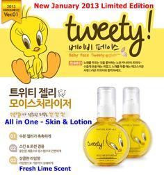 [Nature Republic] Tweety Jelly Moisturizer South Korea Beauty, Nature Republic, Tweety, Jelly, Lotion, Beauty Products, Moisturizer, Moisturiser, Cosmetics