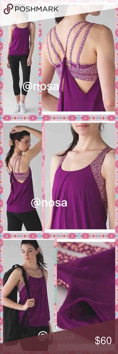 PriceFirmLululemon Nouveau Limits Tank 6 ⚡️Price Firm⚡️ ❌Non negotiable!  ❌No, Trades!   ✳️Nouveau Limits tanks ✳️Color: TEGP/MMPF/PCFZ ✳️New with tags ✳️Size: 6 ✳️Loose fit, hip length  ✳️Light support for B/C cup ✳️Light weight, 4 way stretch   ☘These are such gorgeous tanks! I love the color and the design of the back!  Check my other lululemon items!! lululemon athletica Tops Tank Tops