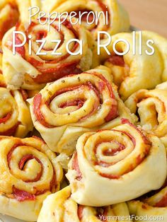 Pepperoni Pizza Rolls - Served