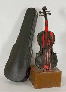 Bernard Aubertin.  Le violin brulè. 1989