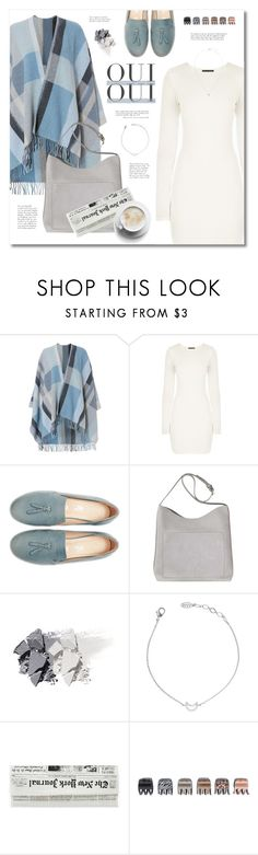 """""""Untitled #154"""" by afony ❤ liked on Polyvore featuring Holzweiler, Oui, Christian Dior, Forever 21 and plaidcoats"""