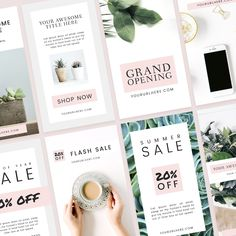 A pack of 10 Photoshop templates designed for Instagram Stories. Perfect for displaying business information, alerts for special sales or promotions, or furthering your brand story on Instagram. *affiliate