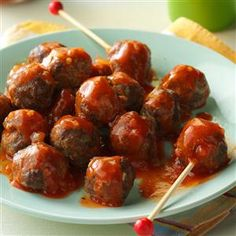 Tiny Taco Meatballs Recipe- Recipes  These meatballs may be tiny, but they're big on taste. Taco seasoning adds a tasty twist to these appetizers that my grandson gobbles up!—Joyce Markham, Belmond, Iowa