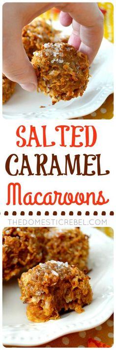 macaroons salted caramel macaroons tender chewy sweet gooey coconut ...