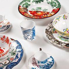 Vajilla Hybrid, una curiosa combinación de porcelanas