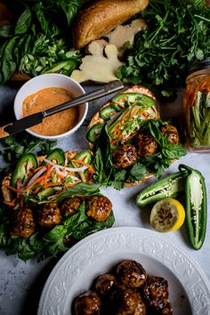 Lemongrass Chicken Meatball Banh Mi(nis) – What do you crave?