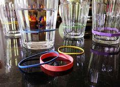 mesure sur des verres à cocktail