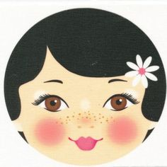 Ooshka Fabric Face Panel Black Hair Brown Eyes