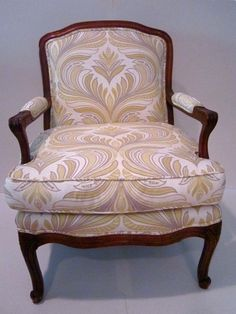 Vintage C. 1950 Louis XV Style Rococo Salon Chair With New Upholstery via Etsy