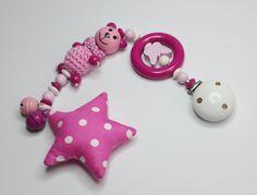 Baby-Safe-Kette Kinderwagenkette rosa SB108 von myduttel auf DaWanda.com