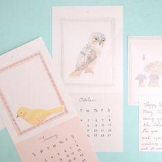 Prachtige kalender gratis te downloaden! Door moke