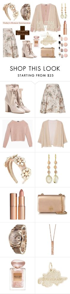 """Neutrality - In Fashion, Always Conveys A Good Choice"" by sharee64 ❤ liked on Polyvore featuring Valentino, Melissa McCarthy Seven7, Max&Co., MANGO, Dolce&Gabbana, Panacea, Charlotte Tilbury, Tory Burch, Rolex and Clara Jasmine"
