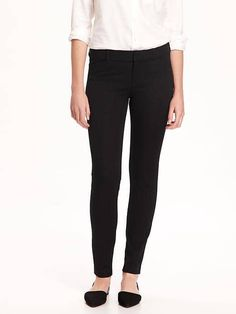 I love these pants, I own black and navy. Flattering fit, comfortable, perfect for my current work environment.