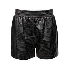 ALEXANDER WANG Croc Short ($1,165) ❤ liked on Polyvore