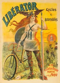 Liberator Cycles & Automobiles. 1899  PAL (Jean de Paleologue, 1860-1942)