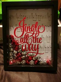 How to Make Easy Christmas Decorations for your Home – Shadow Boxes Christmas DIY Decorations Easy and Cheap More from my site 55 Easy DIY Christmas Craft Ideas Kids Can Make 26 DIY Halloween Decorations That Are Cheap and Easy To Make Easy Christmas Decorations, Christmas Signs, Simple Christmas, All Things Christmas, Christmas Art, Christmas Holidays, Christmas Ideas, Homemade Decorations, Christmas Travel