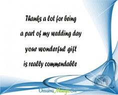 thank you for attending our wedding wedding pinterest messages