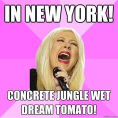 Oooh sing it Christina