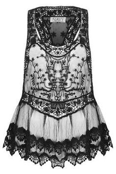 **Florence Gothic Lace Top by Navy
