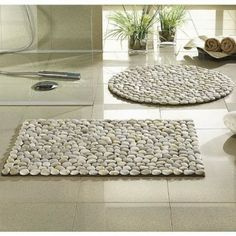 How to make cool pebble stone floor decoration step by step DIY tutorial instructions