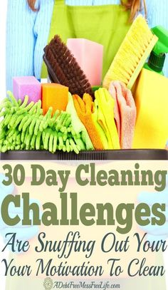 We all love them! The 30 day cleaning challenges that promise to transform our homes. But, what if these same 30 day challenges could be snuffing out your motivation to clean? Find out how to get it back and finally have a clean home!