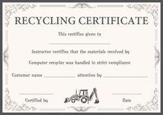 8 Best Certificate Of Destruction Images Certificate Templates