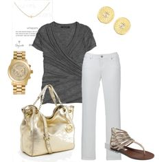Complete outfit. Love it! You can actually go out and find these items at reasonable prices.