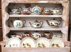 miniatures and children's tea sets......antique pottery handmade in Devon, England... learn more at www.TorquayUS.org