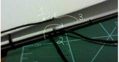 Bookbinding Tutorial Diagram - 15 http://www.ibookbinding.com/blog/simple-bookbinding-tutorial/