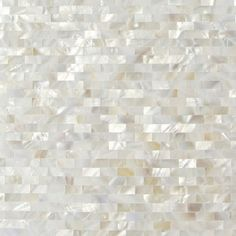 Ivy Hill Tile Mother of Pearl Serene White Bricks Seamless 12 in. x 3 mm Pearl Shell Glass Wall Mosaic Tile Splashback Tiles, Kitchen Backsplash, Mosaic Tiles, Wall Tiles, Glass Tiles, Backsplash Ideas, Tile Ideas, Glass Brick, Glass Tile Backsplash
