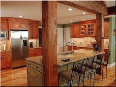 great example how antique wood makes everything look better How To Antique Wood, Beams, Kitchen Cabinets, Antiques, House, Furniture, Home Decor, Home Decoration, Exposed Beams