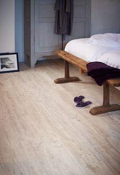 Moduleo Latin Pine 24110 - rustic bedroom with luxury vinyl plank.