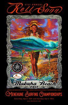 Rell Sunn - the Queen of Makaha, the Heart of the Sea Surf Art, Ikebana, Hawaiian, Surfing, Sea, Cartoon, Surf Posters, Artwork, Crafts