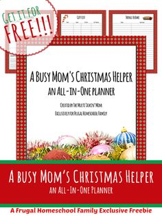 Free Busy Mom's Christmas Planner