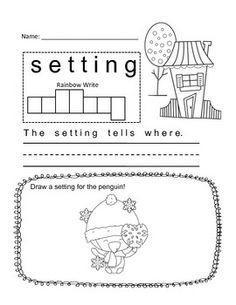 Worksheets for library fiction / nonfiction / setting