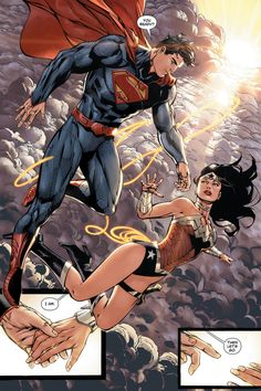 """You Ready?"" ""I Am."" "" Then Let's Go."" Superman and Wonder Woman - Tony Daniel"