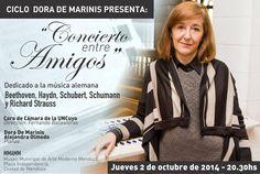 Homenaje a Richard Strauss por el Coro de Cámara de la Uncuyo junto a Alejandra Olmedo y Dora de Marinis en piano. 2/10/14