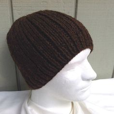 2f3665ee This mens knitted beanie hat is a slightly larger size, knit in a very soft