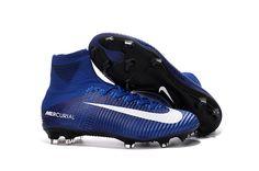 ed39d88d5d Nike Mercurial Superfly V FG Soccer Shoes Blue White Black on  www.evensoccer.com